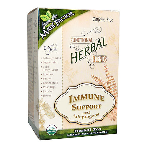 Mate acute Factor Immune Support with Adaptogens Herbal Tea Blend 20 tea bags