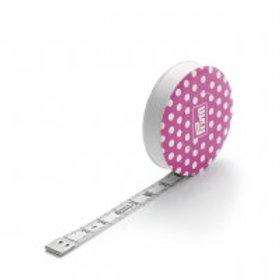 Spring tape measure Prym Love, pink, 150cm
