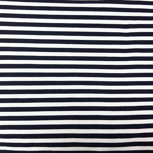 Dark Navy and White striped Jersey