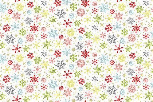 Joy Snowflakes white