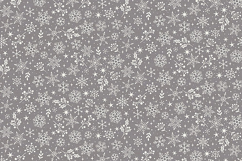 Scandi Grey Snowflakes