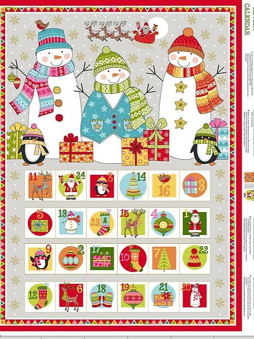 Advent Calendar Panel Snowmen Kit
