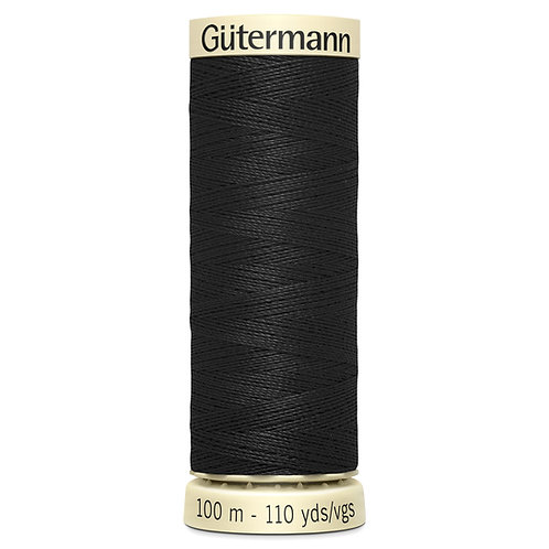 Gutermann 100m Sew All Thread Black