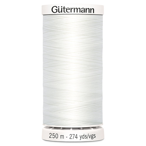 Gutermann 250m Sew All Thread White