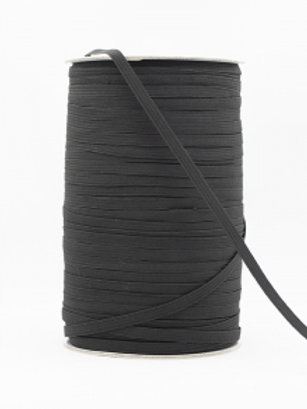 4mm Black  Braided Elastic