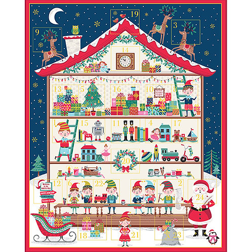 Santa's Workshop Advent Panel Kit