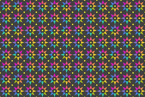 Alison Glass Art Theory 9703C Black Stars