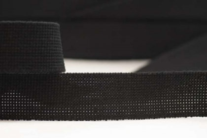 DWP40-7-black – 40mm wide plain colour webbing – black