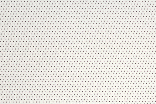 Fabric Freedom White with purple dots