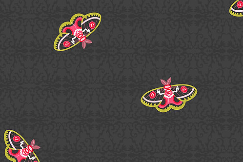 Alison Glass Art Theory 9700 C Black Butterflies
