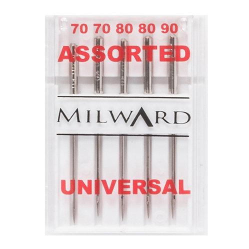 Milward Universal Needles: 70/10(2), 80/12(2), 90/14(1): 5 Pieces