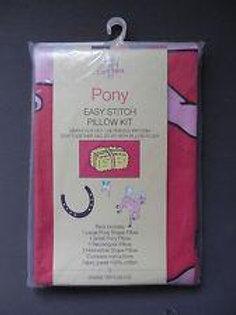 Pony Easy Stitch Pillow Kit