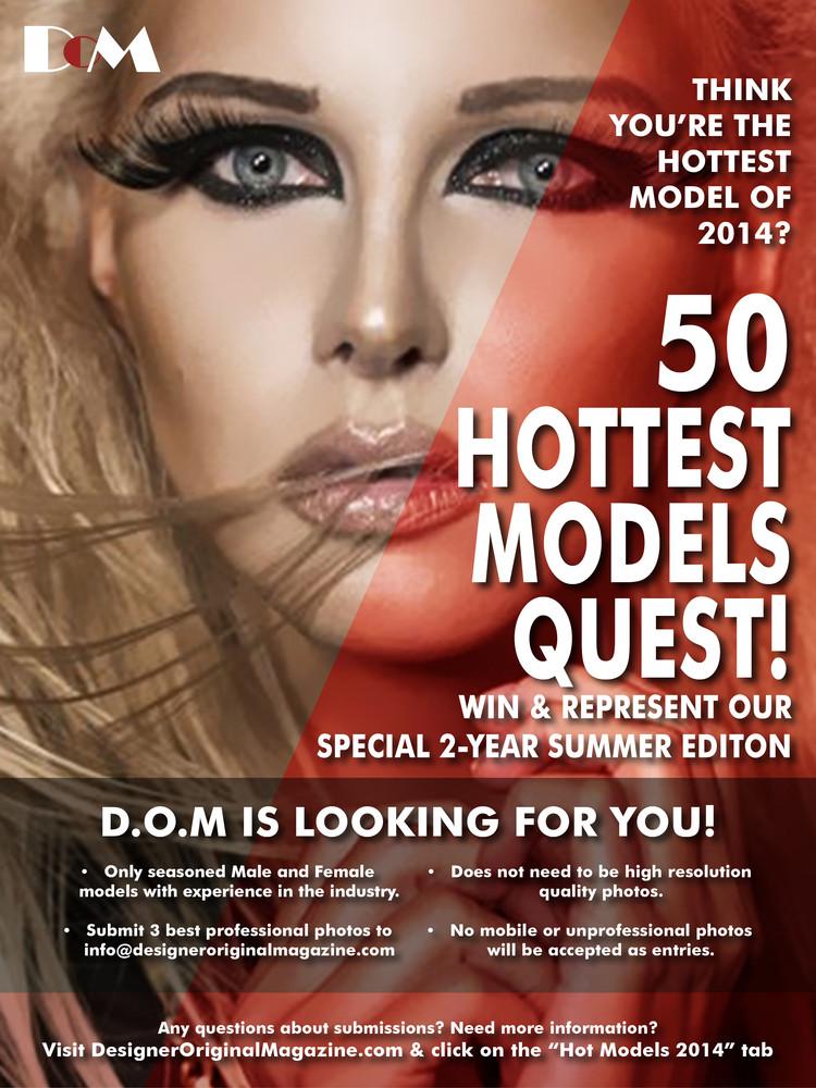 50 Hottest Models Quest Poster