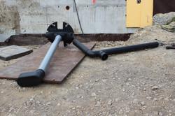 Einlaufrohr für Regenwassertank