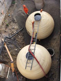 GFK Regenwassertank-Kugeln