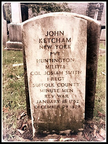 Gravestone of John Ketcham, Patriot