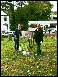 Ketwamoke Chapter Members Clean Patriot Graves for NSDAR Day of Service