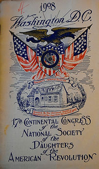 Program from the 17th Continental Congress NSDAR