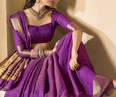 Gorgeous Designs of Purple Blouses For A Royal Look!