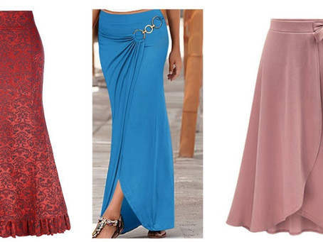 Beautiful Flared Skirt Designs for Women