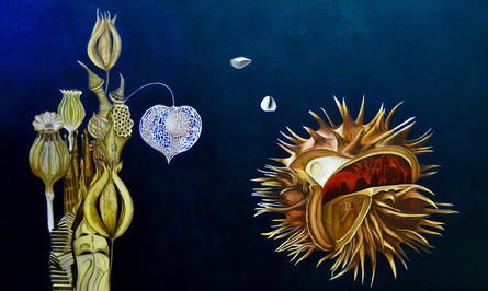 "'Innerscape,' by Elizabeth R. Wilson, 2018. Oil on Canvas, 36""x60"""