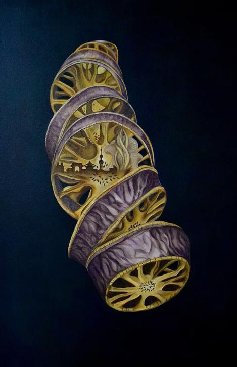 "'Unravel,' by Elizabeth R. Wilson, 2018. Oil on Canvas, 24""x36"""