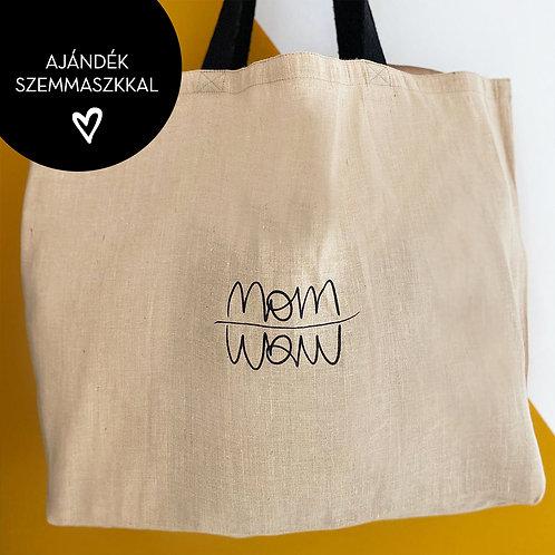 Oversized Mami táska - fekete füllel