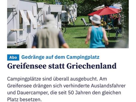 Unser Campingplatz im Tagesanzeiger