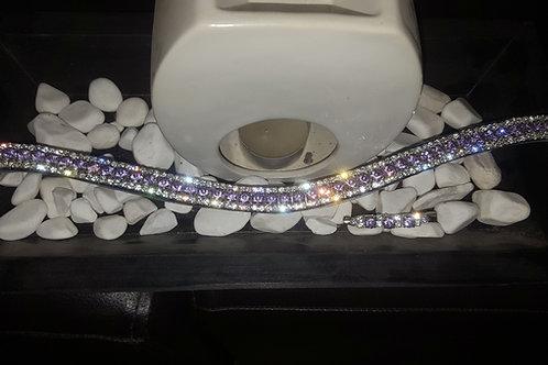"""Bespoke crystal browbands 1/2"""" curved"""