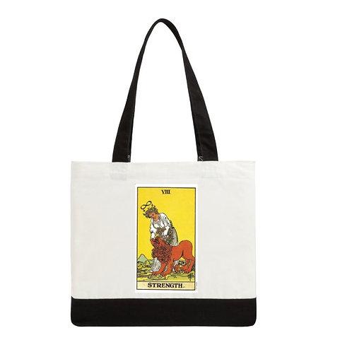 "Tarot tote bags two-tone deluxe -  19"" x 15"" x 6"" white/black"