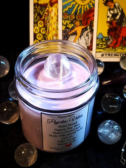 🔮Psychic vibes - Limited Edition Organic Soy Wax & Pure Quartz Crystal ball