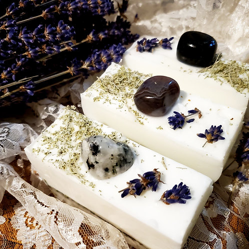 3pc Sage and Lavender Organic Goat Milk Soap with Hemp Seed Oil