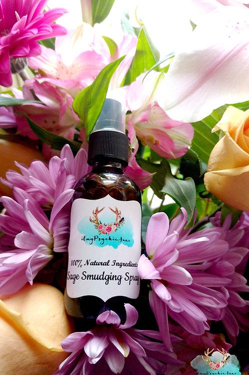 Rose Quartz Crystal and Sage Spray