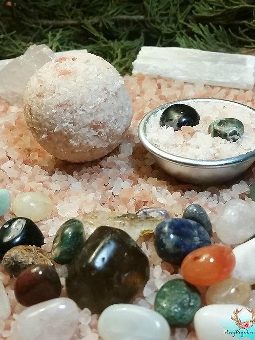 Surprise Crystal Bath Bombs, Pink Himalayan salt Medium