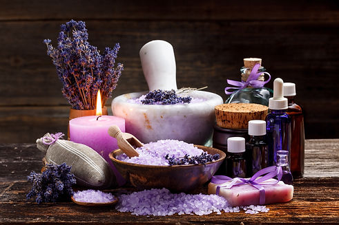 Still life with lavender candle, soap, salt and dried lavender.jpg