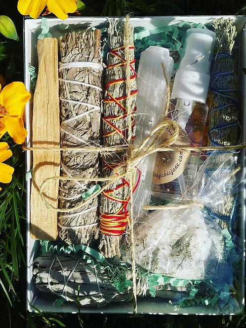 Sage Gift Set (Lavender Sage Bath Salts/ Spring Flowers or Rose)
