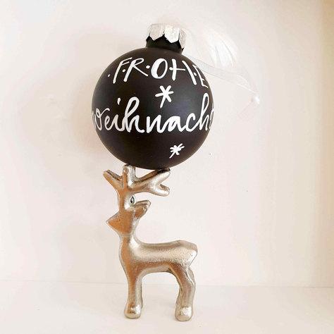 Weihnachtskugel schwarz, 6 cm