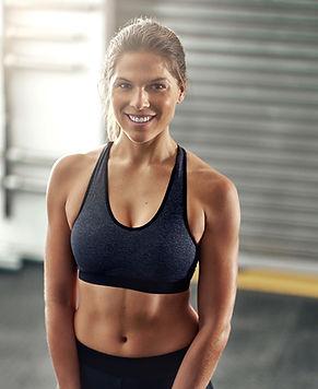 Athetic Woman Smiling