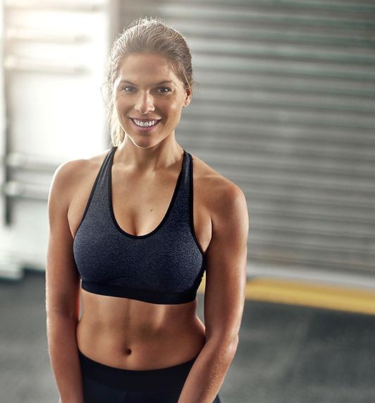 Athetic Vrouw Glimlachen