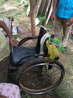 Rusty wheel chair!