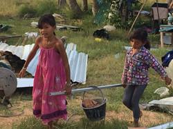 Kids helping!