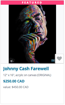 Johnny Cash auction item