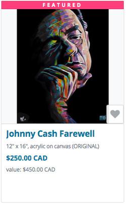 Johnny Cash auction item