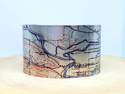 Missoula Montana 1912 Map Cuff Bracelet
