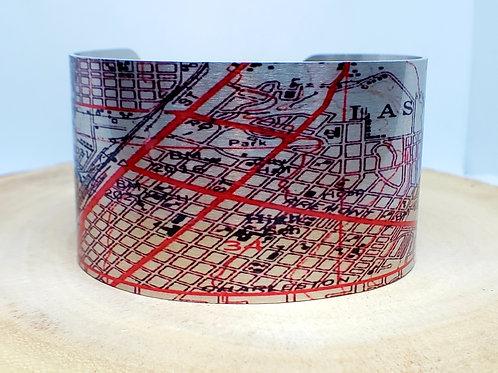 Las Vegas Nevada Map Cuff Bracelet