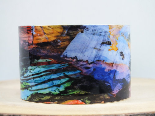 Watercolor Abstract Cuff Bracelet
