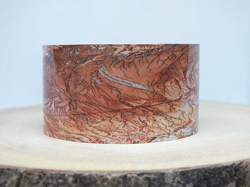 Mt. McKinley Alaska Map Cuff Bracelet