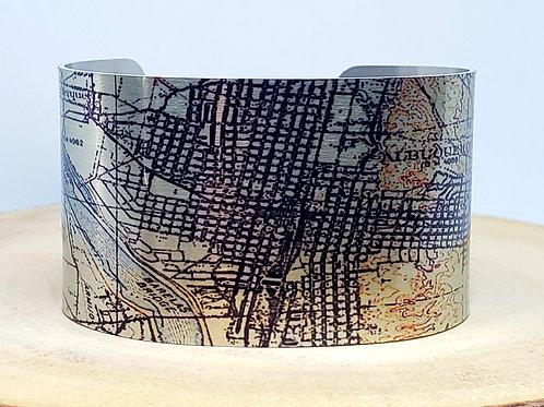 Albuquerque New Mexico Map Cuff Bracelet