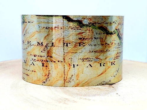 Yosemite National Park Map Cuff Bracelet