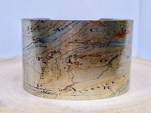 Glacier National Park Montana Map Cuff Bracelet